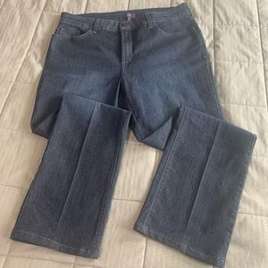 NYDJ High Rise Straight Leg Dark Wash Jeans Sz 14